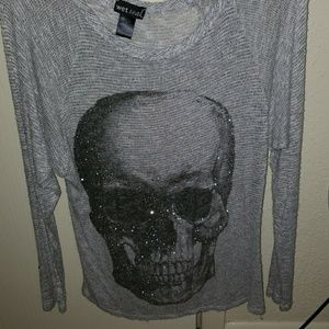 Bedazzled skull long sleeve